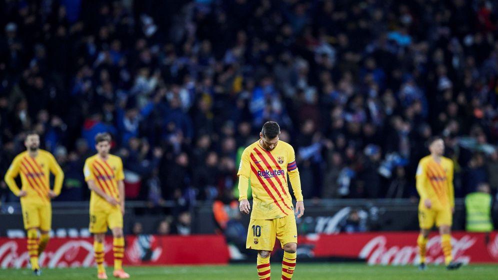 Foto: Messi, derrotado tras el empate del Espanyol en el último suspiro. (EFE)