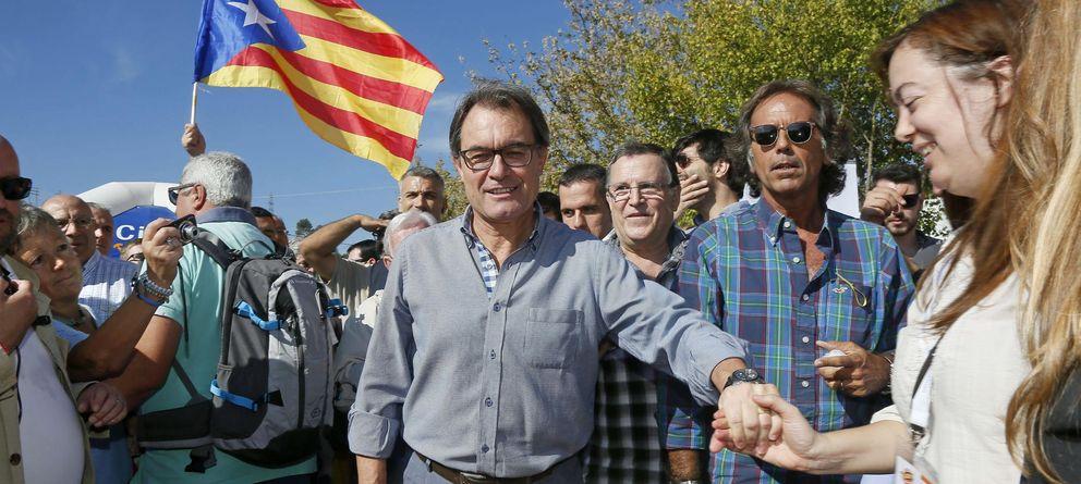 Foto: Artur Mas, hoy, en el día de CDC. (Efe)