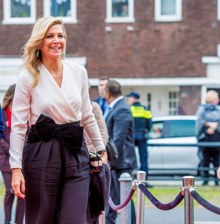 Foto: La reina Máxima acudiendo al evento del pasado miércoles. (Cordon Press)