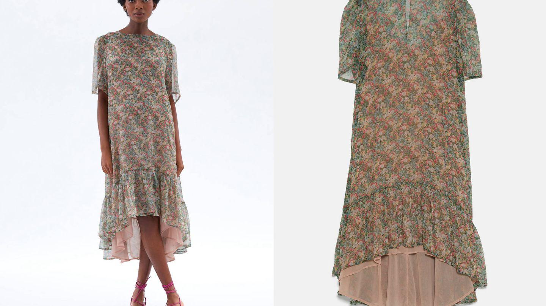 Vestido floral de Zara, colección 'Mum' (39,95€).
