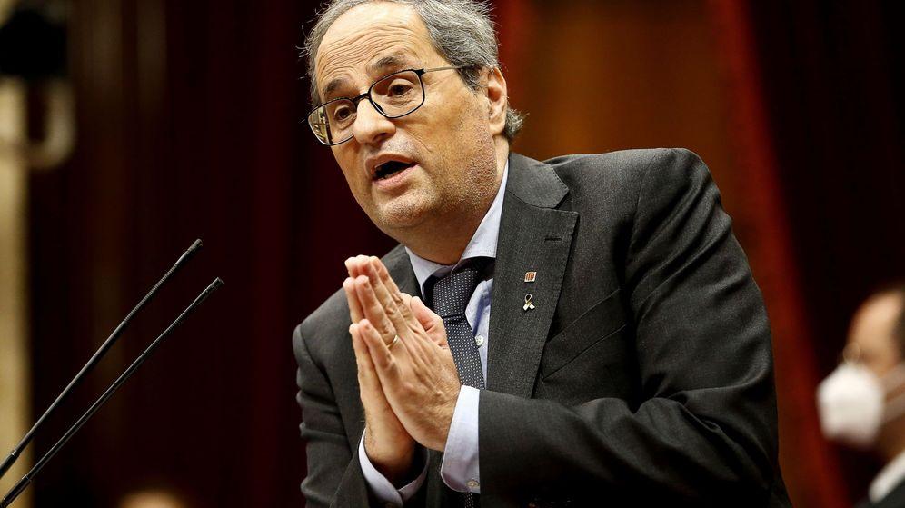 Foto: El presidente de la Generalitat, Quim Torra, durante su intervención en el debate de política general que anualmente celebra el Parlament de Cataluña. (EFE)