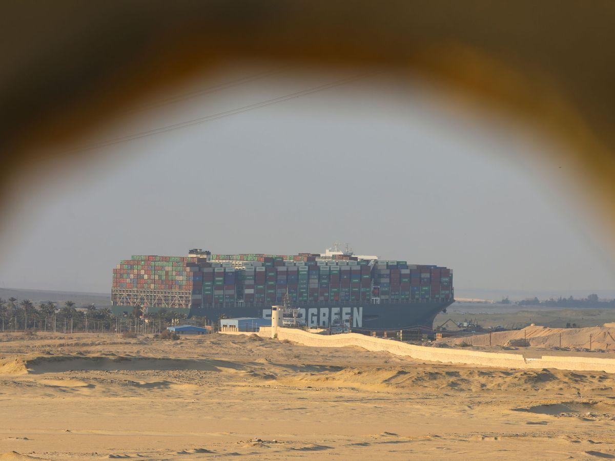 Foto: Foto del carguero encallado. (Reuters)