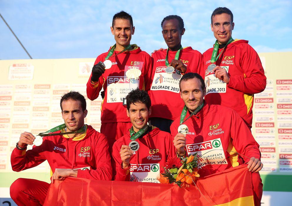 Foto: El equipo sénior masculino revalidó el título europeo (Rfea).