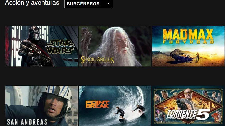 El Señor de los Anillos y Torrente en la misma categoría (Netflix)