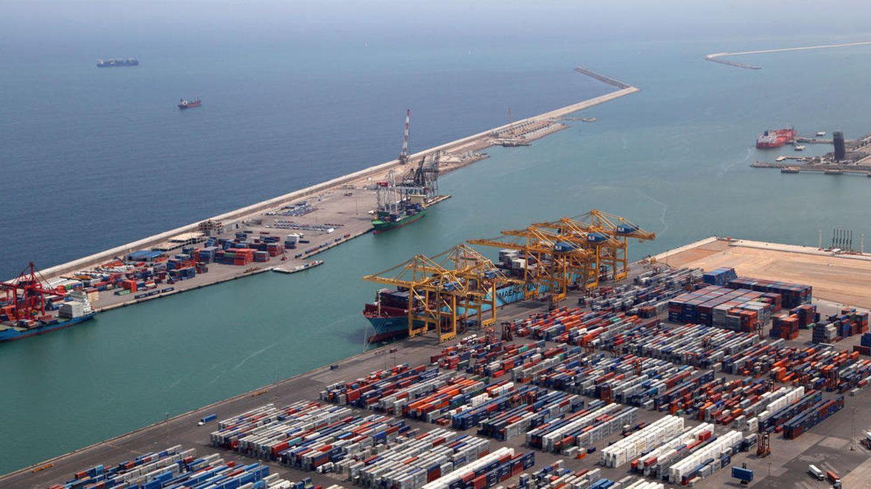 Vista aérea del Puerto de Barcelona. (EFE)