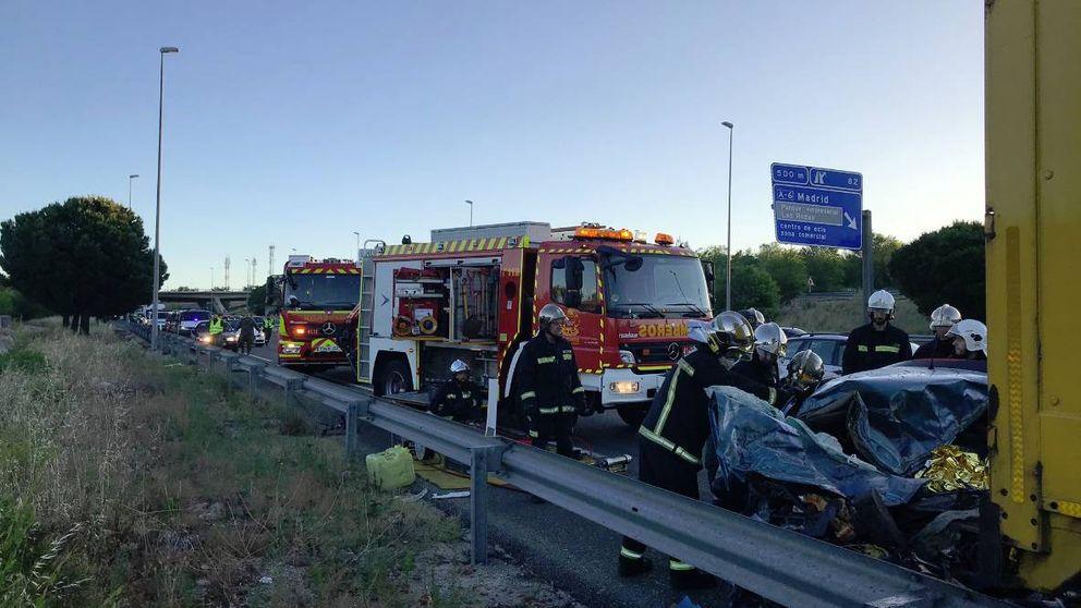 Un jabalí causó el accidente de la M-50 en Las Rozas en el que ha muerto un joven