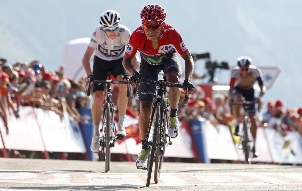 Foto: Quintana no pudo sacarse de rueda a Froome (Javier Lizón/EFE).
