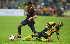 Un gran Neymar cubre el vacío de Messi en el cierre de la gira asiática