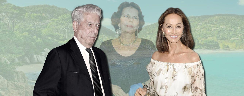 Foto: Mario Vargas Llosa, su exmujer Patricia Llosa y su nueva novia Isabel Preysler (Vanitatis)