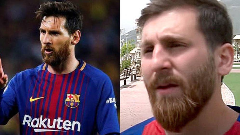 Foto: El parecido entre la estrella del Barça y el joven iraní es más que razonable