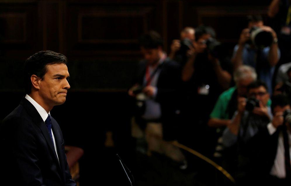Foto: El líder socialista, Pedro Sánchez, durante el debate previo a la segunda votación de investidura de Mariano Rajoy, este 2 de septiembre. (Reuters)