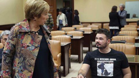 Rufián protagoniza un nuevo incidente con una camiseta con Rato en prisión