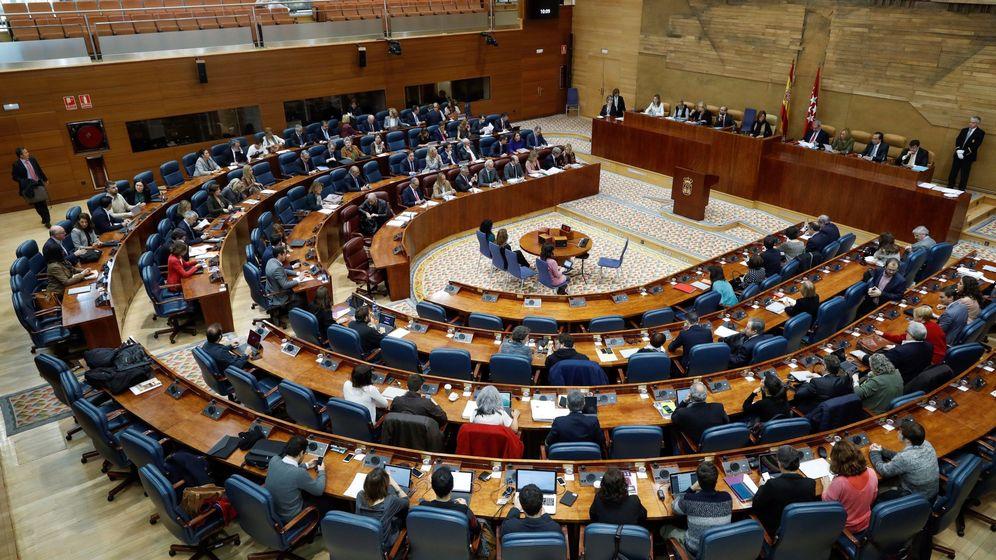 Foto: Vista general del pleno de la Asamblea de Madrid. (EFE)