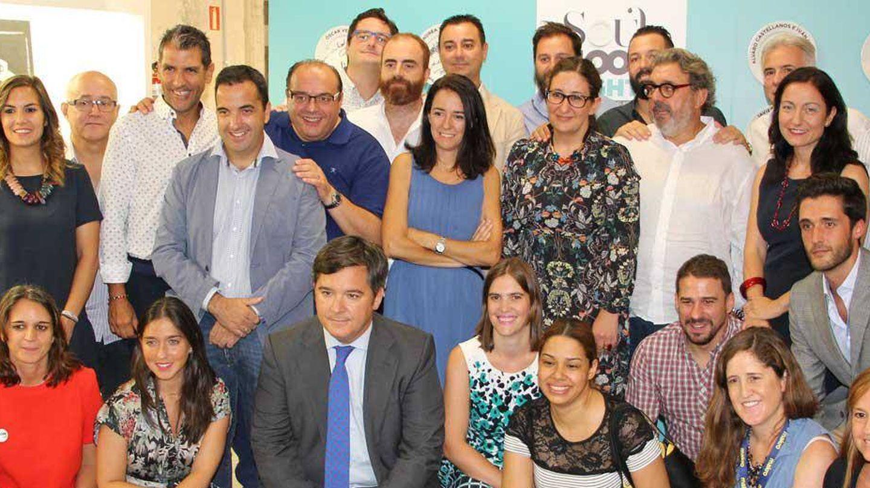 Los cocineros y representantes en la presentación del evento (Foto: Acción contra el Hambre)