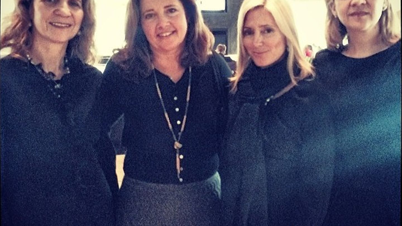 Las infantas Elena y Cristina junto a Marie-Chantal y la princesa Alexia de Grecia. (Instagram Marie-Chantal)
