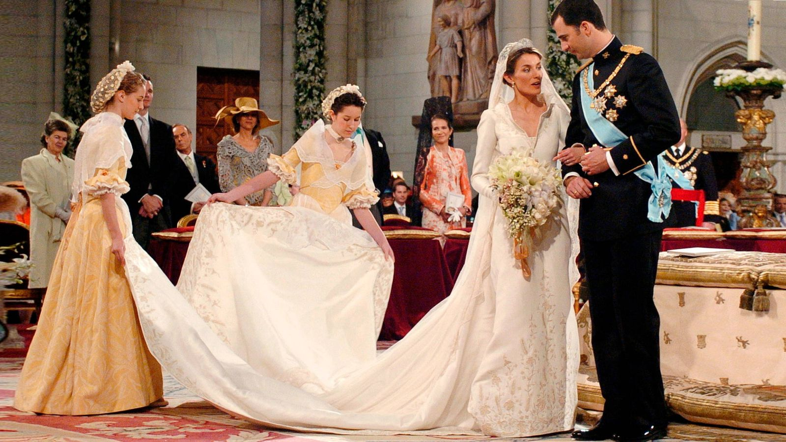 Foto: Los Reyes el día de su boda. (Getty)