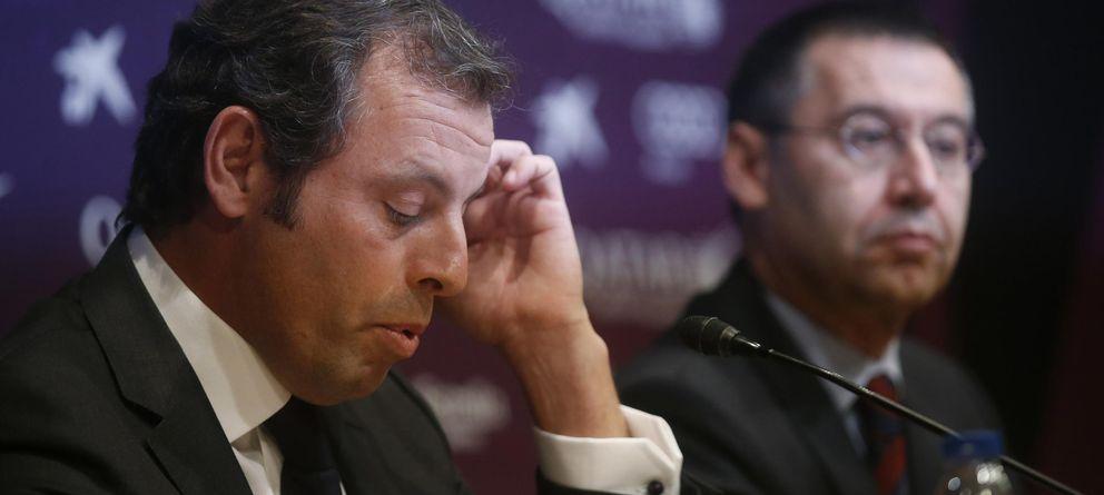Foto: Sandro Rosell durante su despedida como presidente del Barcelona (Reuters).