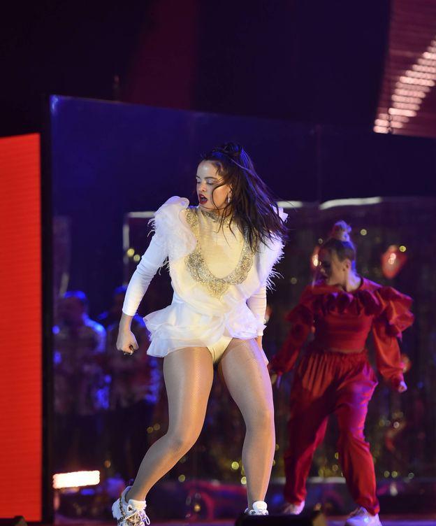 Foto: Rosalía en los Premios Grammy.(Getty)