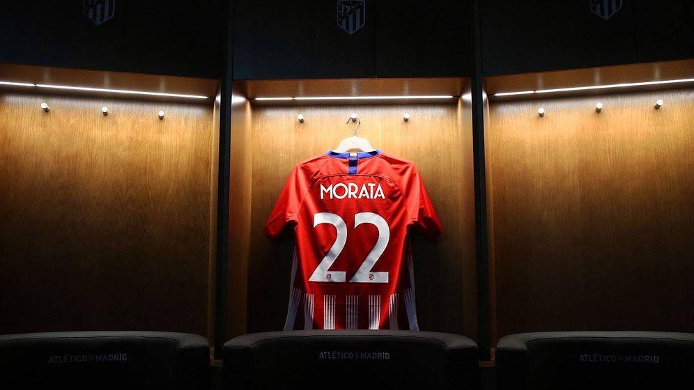 Foto: Morata lucirá el número 22 en el Atlético de Madrid.