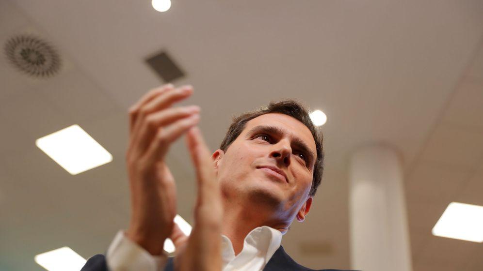Foto: Albert Rivera, durante la comparecencia de este lunes en la que ha anunciado su dimisión como líder de Cs. (Reuters)