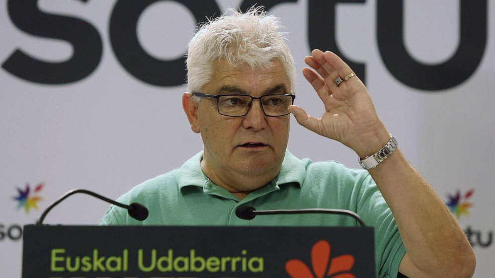 Foto: El representante de Sortu y exrecluso de ETA Antton López Ruiz Kubati. (EFE)