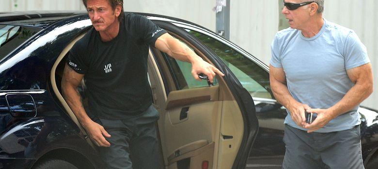 Foto: Sean Penn en Barcelona durante el rodaje de ' The Gunman' el pasado mes de junio