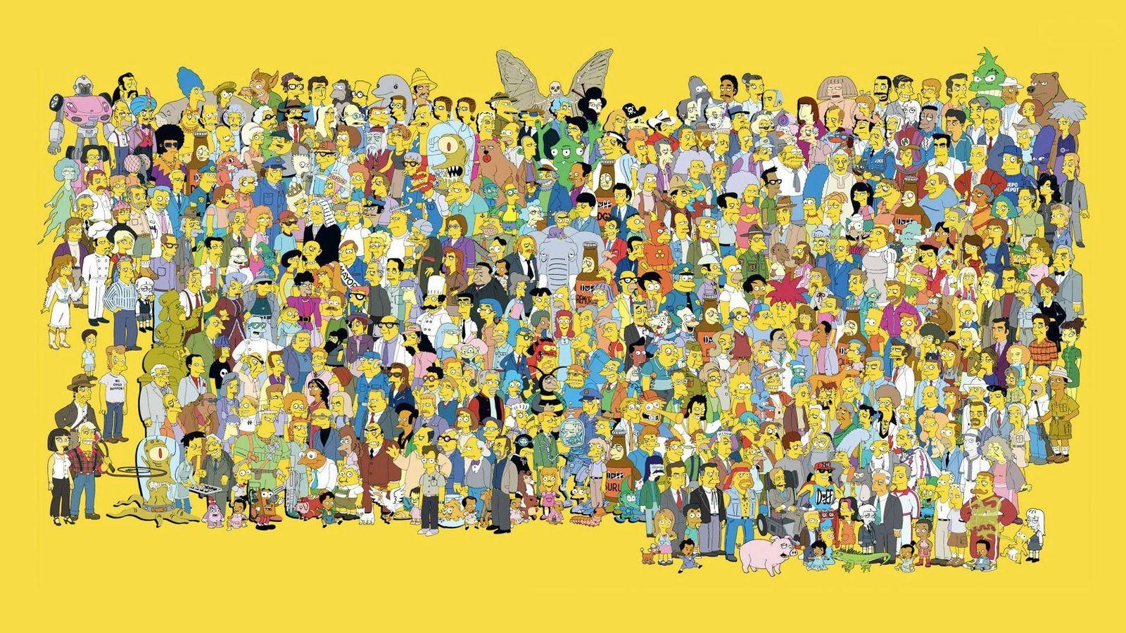Foto: La gran familia de la serie 'Los Simpson'.