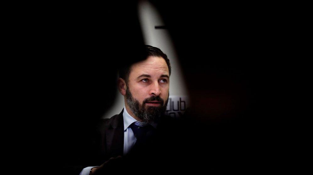 Foto: Santiago Abascal, en el desayuno informativo del Club Siglo XXI. (EFE)