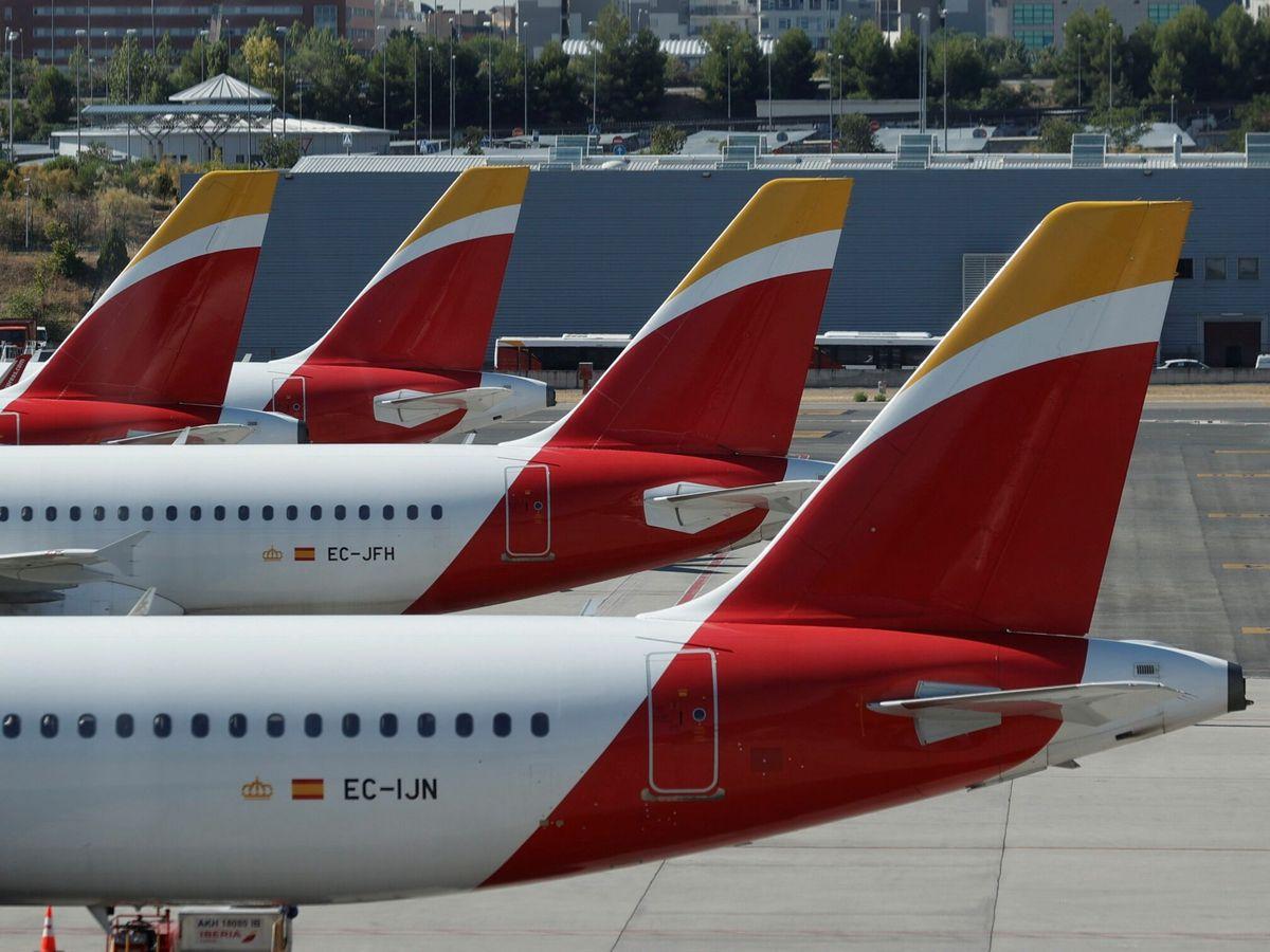 Foto: Aviones en el aeropuerto de Barajas. (EFE)