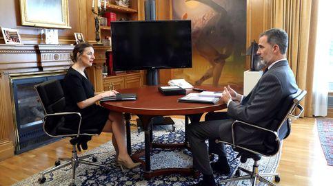 El Rey continúa con su ronda de contactos y se reúne con la ministra de Trabajo para analizar la crisis del Covid-19