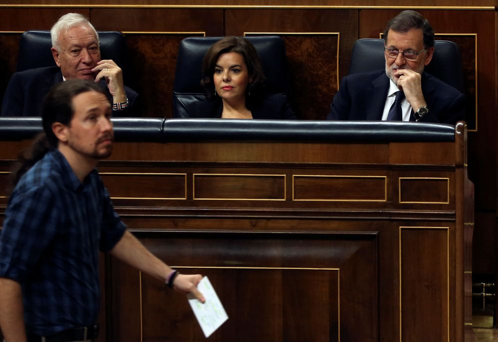 Foto: Rajoy y Pablo Iglesias en el Congreso (Reuters)