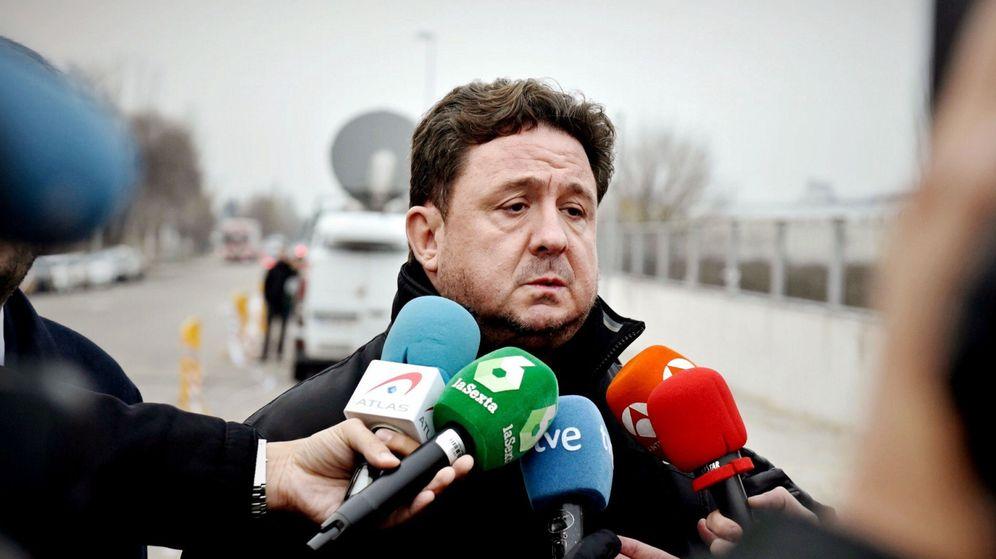 Foto: José Luis Peñas, a su llegada esta mañana a la Audiencia Nacional