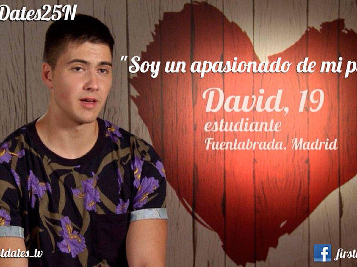 Foto: David, en 'First dates'. (Cuatro)