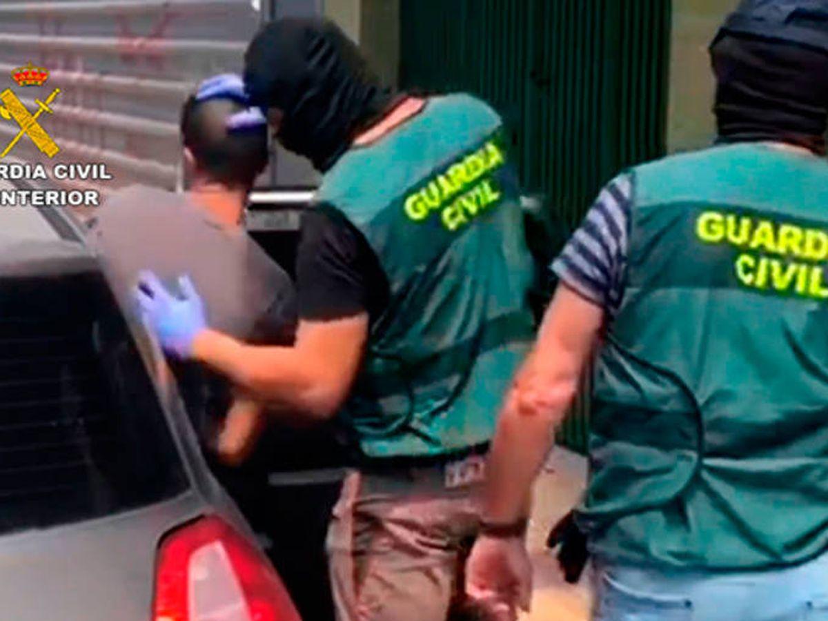 Foto: La Guardia Civil detuvo a un total de siete personas por su relación con el grupo criminal (Foto: Guardia Civil)