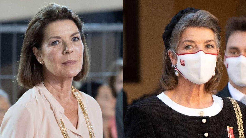 Carolina de Mónaco, en 2018 y 2020. (Cordon Press)