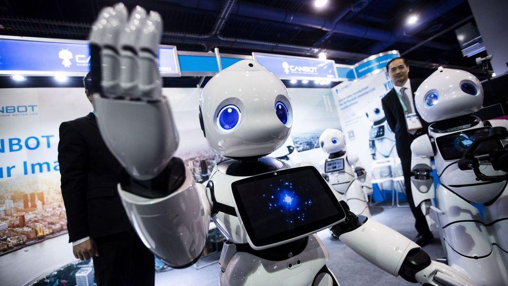 Foto: Un robot en la feria de tecnología CES en Las Vegas, EEUU. (EFE)