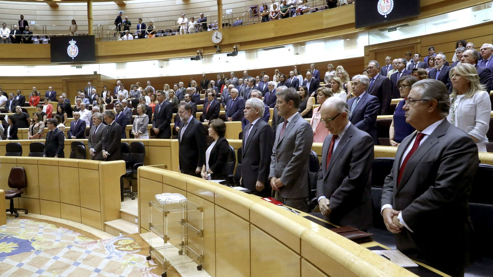 Foto: El hemiciclo del Senado durante una sesión de control al Gobierno el pasado septiembre. (EFE)