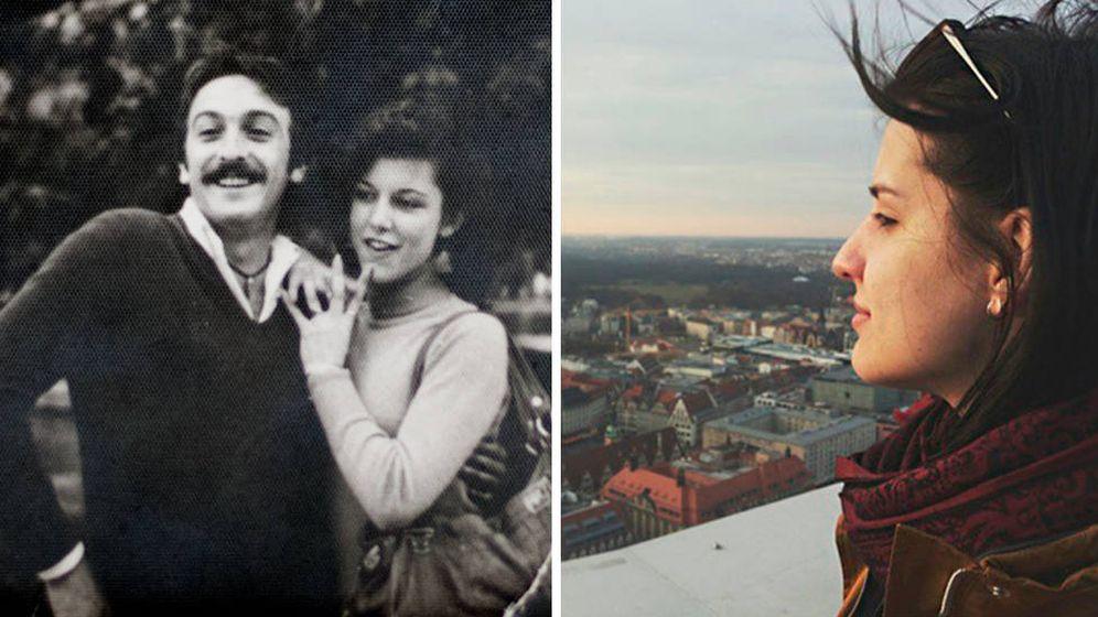 Foto: Mis padres, 'babyboomers', a la izquierda y yo a la derecha, de la generación 'millennial'.