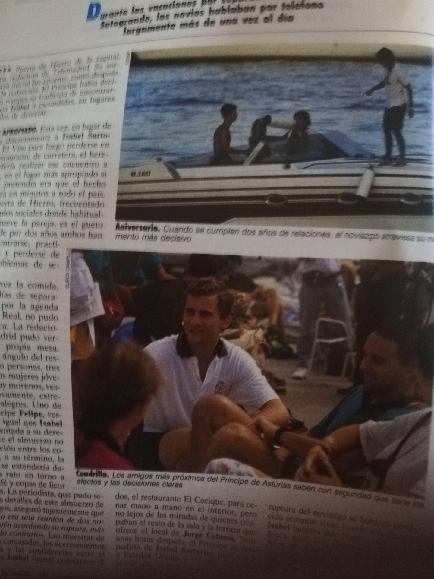 Felipe VI durante sus veranos de juventud en Mallorca. (Tiempo)