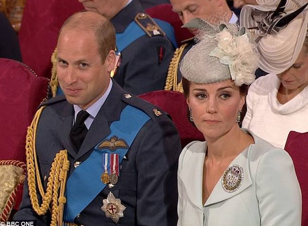 Foto: Guillermo y Kate durante la ceremonia. (BBC)