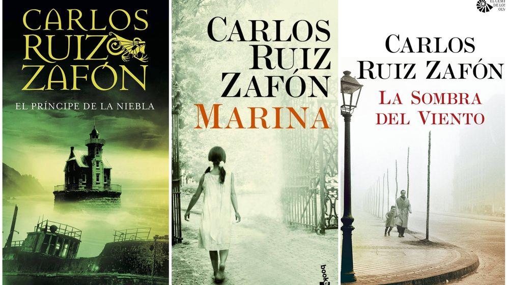 Foto: Tres de las obras más emblemáticas de Carlos Ruiz Zafón.