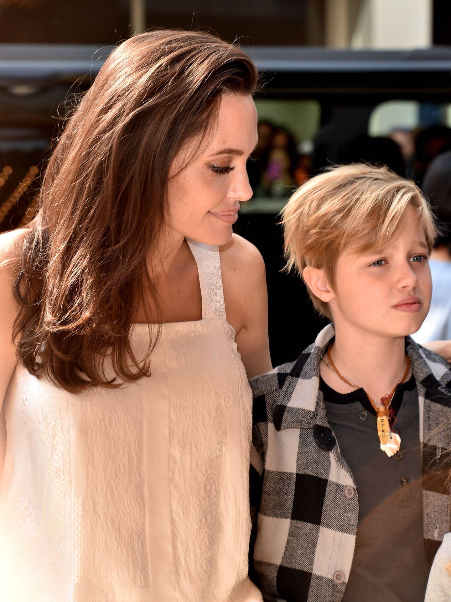 Angelina y Shiloh. (Getty)
