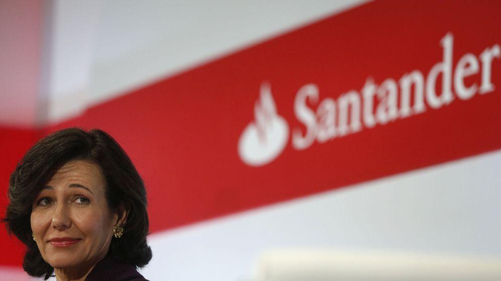 Foto: Ana Botín en la presentación de los resultados del Santander ayer en Boadilla del Monte. (EFE)