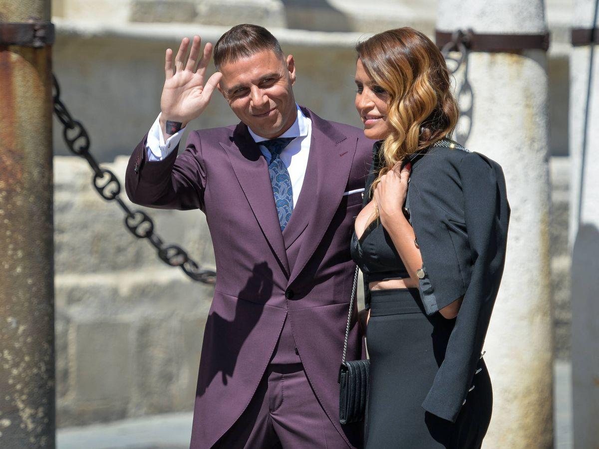 Foto: Joaquín y Susana, en la boda de Sergio Ramos y Pilar Rubio. (Getty)