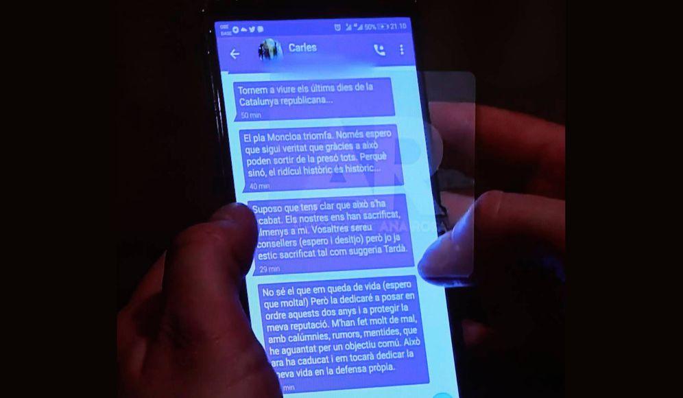 Foto: 'El programa de Ana Rosa' ha publicado en exclusiva una serie de mensajes que Puigdemont habría enviado a Comín.