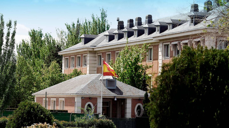 Vista general de la fachada del Palacio de La Moncloa. (CP)