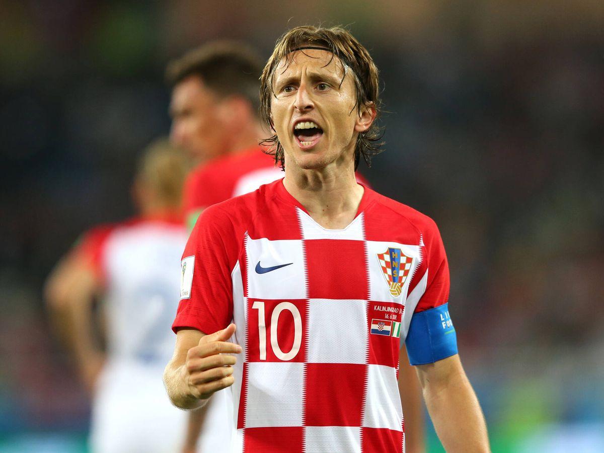 Foto: Luka Modric, en un partido con Croacia. (Getty)