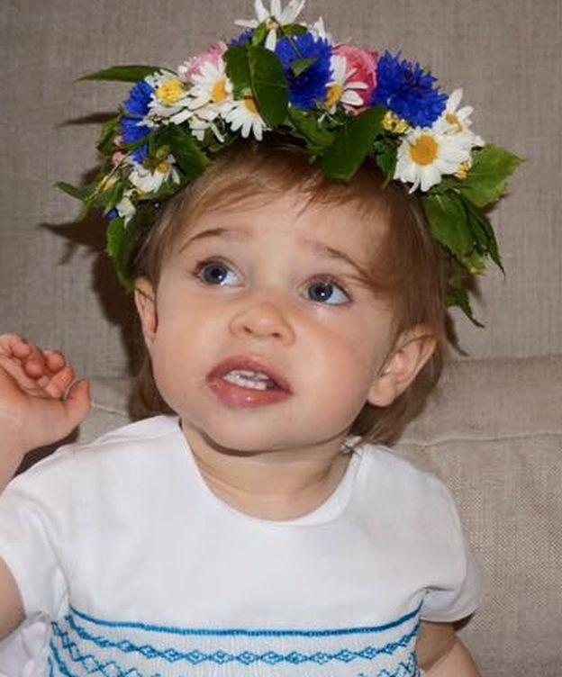 Foto: La princesa Leonore celebrando la llegada del verano (Facebook)