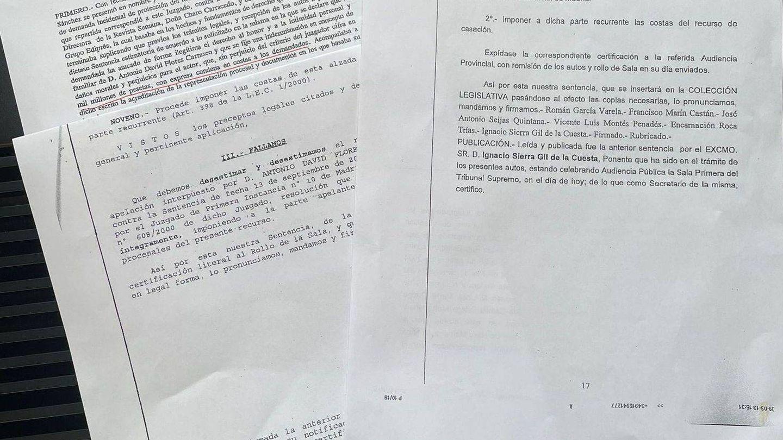 Los documentos judiciales.