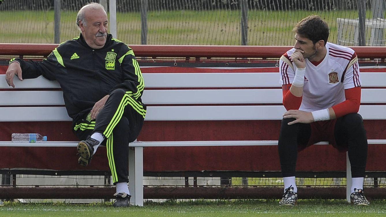 Foto: Iker Casillas y Vicente del Bosque (Gtres)